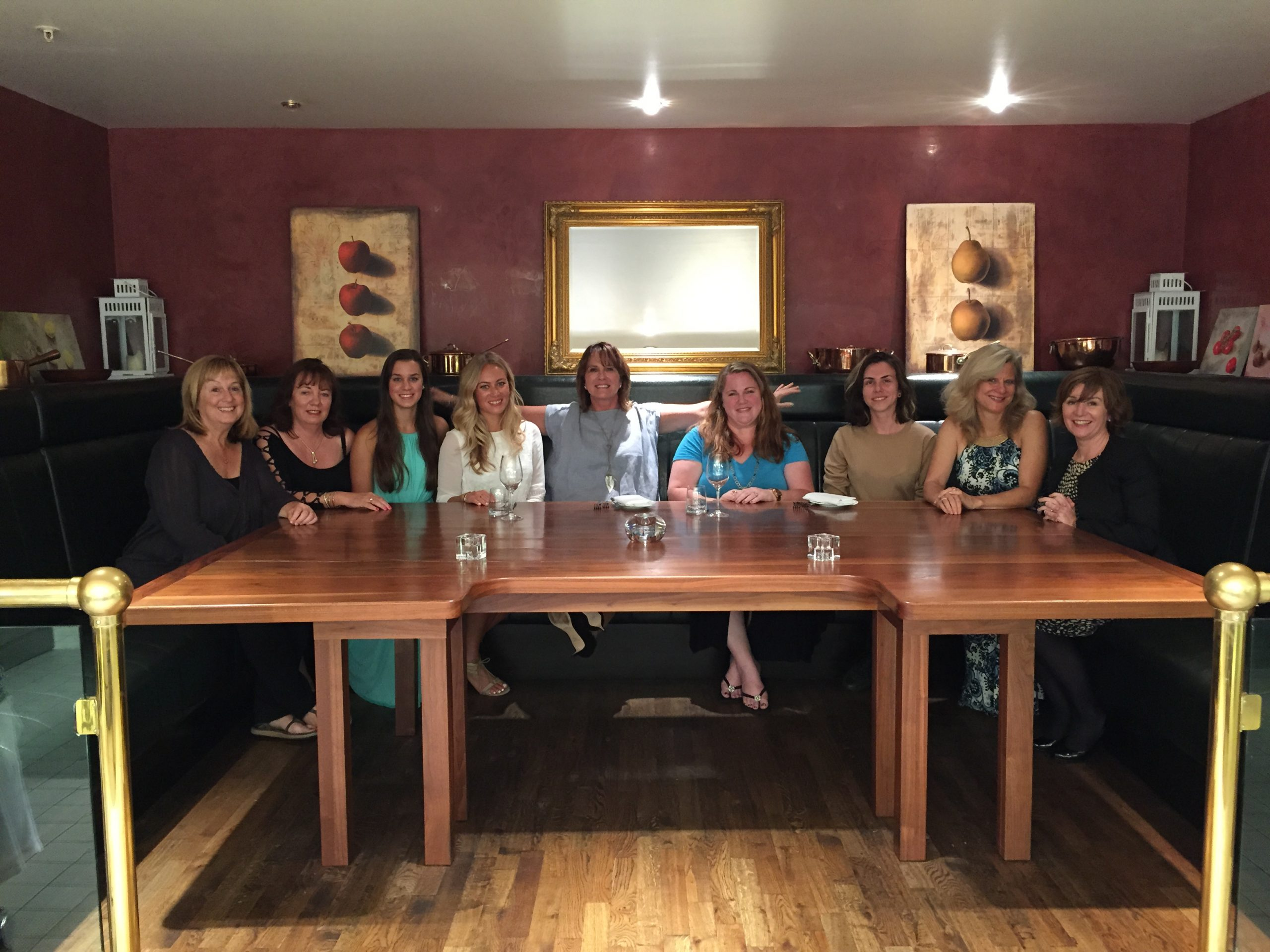 Our August group at the Tasting Table in the kitchen at Sika restaurant at The Powerscourt Hotel
