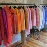 Rows and rows of sheer beautiful cashmere at Lainey Keogh's studio
